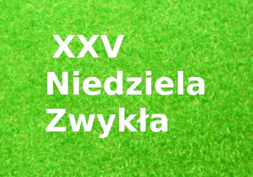 XXV Niedziela Zwykła