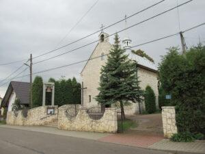 Widok kościoła z ulicy