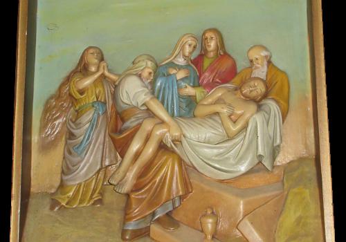Stacja 14 Pan Jezus złożony w grobie