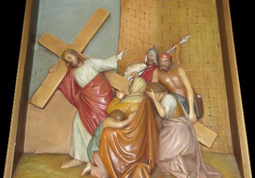 Stacja 8 Pan Jezus pociesza płaczące niewiasty
