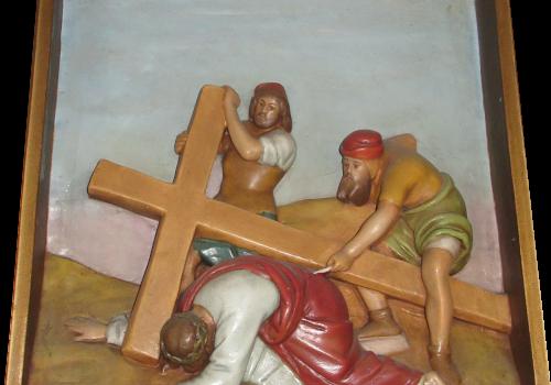 Stacja 9 Pan Jezus upada pod krzyżem po raz trzeci