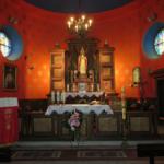Wnętrze kościoła w Będkowicach