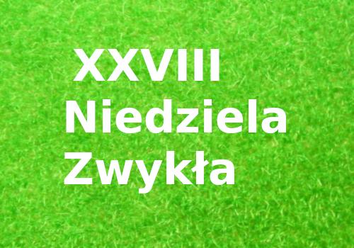 XXVIII Niedziela Zwykła