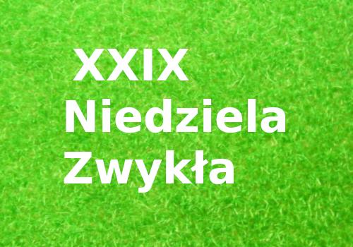 XXIX Niedziela Zwykła